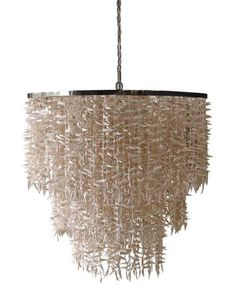 moroccan metal chandelier with coco sticks