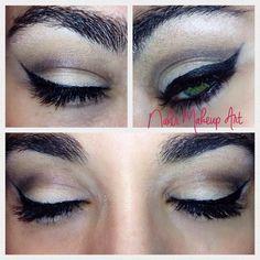 Un delineado cat eye siempre es una buena opcion ya sea para el dia a dia o para la noche! Se trata de un maquillaje sencillo a la par que sofisticado y me encanta combinarlo con el labio rojo!