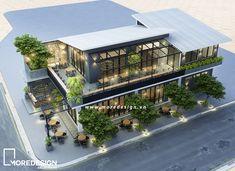 Thiết kế quán cafe bằng nhà thép tiền chế