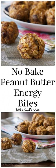 No Bake Peanut Butter Energy Bites Recipe. A healthy back to school snack for kids and adults of all ages.