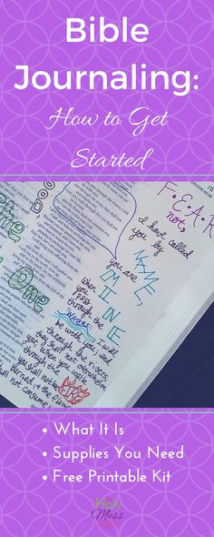 Easy Bible journaling for beginners with free printable kit. Bible Journaling: How to Get Started