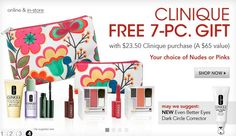 Get Clinique Free 7-PC Gift With Any $23.50 Clinique Purchase @ Macy's