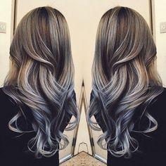 Image via We Heart It #curls #hair #longhair #straight