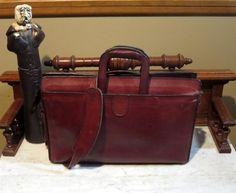 Thanksgiving Sale Vintage Hartmann Burgundy Belting Leather Handle  Portfolio Attache Briefcase With Detachable Strap- Rare Bag 6b6ce8b7ed751