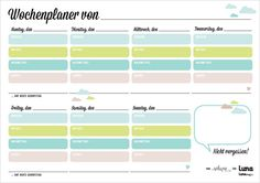 Voll der Plan - Wochenplaner für Groß und Klein zum Download.