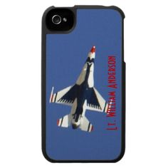 $47.95 - USAF Thunderbird F16 Flying Fighter Jet iPhone 4 Covers - USAF Thunderbirds, America's Ambassadors in Blue. F-16 Jets training out of Nellis AFB in Las Vegas, Nevada. The F-16 Fighting Falcon is a compact, multi-role fighter aircraft. It is highly maneuverable and has proven itself in air-to-air combat and air-to-surface attack. It provides a relatively low-cost, high-performance weapon system for the United States and allied nations.