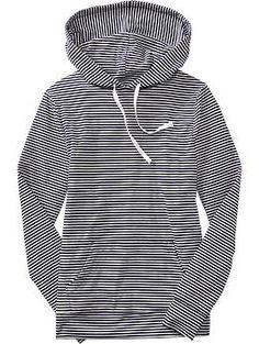 Women's Striped Jersey Hoodies | Old Navy