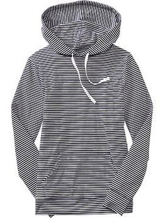 Women's Striped Jersey Hoodies | Old Navy