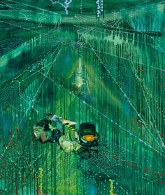Jon Cattapan.Imagine A Raft (Hard Rubbish 1)', 2011. Oil and acrylic on linen, 195 x 168cm.