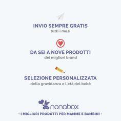 Se ancora non sai cosa è Nonabox! Ogni mese una fantastica scatola sorpresa con prodotti appositamente selezionati per te e il tuo bambino! http://bit.ly/1vQLt6I
