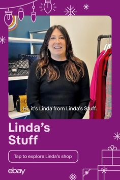 Need a gift for the luxe lover or the style daredevil in your life? Score the designer gifts of your dreams at seriously great prices. Check off your list in style while you support small businesses like Linda's Stuff on eBay. #ChristmasGifts #GiftIdeas #90sfashion #80sfashion #70sfashion #Vintage Support Small Business, Daredevil, Motion Design, 80s Fashion, Small Businesses, Dreams, Celebrities, Holiday, Check