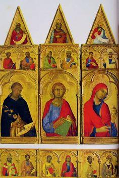 Simone Martini - Particolare laterale sinistra del Polittico di Pisa - tempera e oro su tavola - 1319 - Pisa, Museo Nazionale di San Matteo.