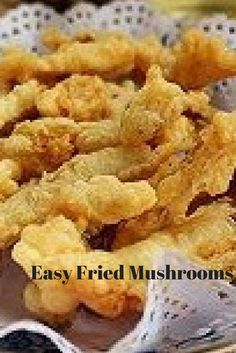 Easy Fried Mushrooms Recipe: Whether in a pan or deep fried, these sliced mushro. - Easy Fried Mushrooms Recipe: Whether in a pan or deep fried, these sliced mushrooms are quick and easy to make as an appetizer or side dish! Big Mushroom Recipe, Morel Mushroom Recipes, Mushroom Appetizers, Meat Appetizers, Appetizers For Party, Appetizer Recipes, Deep Fried Mushrooms, Breaded Mushrooms, Kitchens
