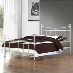 The Robinson Small Double Cream Metal Bed frame oozes both comfort and style. 4ft Beds, Bed Frame And Headboard, Beds For Sale, Beds Online, Metal Beds, Double Beds, Bed Sizes, Furniture