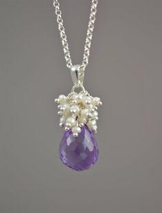Purple Wedding Jewelry | Purple Bridal Necklace, Amethyst Wedding Jewelry by BlueRoomGems, $124 ...