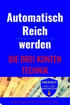 Automatisch Reich werden mit diesem System Saving is hard, empire is all the harder. Here you will get to know a system with which both automatically happen. Make Money Blogging, Money Saving Tips, Make Money Online, How To Make Money, Money Plan, Budget Planer, How To Become Rich, Investing Money, Financial Tips
