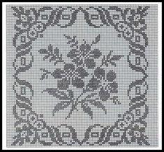 Only Crochet Patterns Part 6 Crochet Bedspread Pattern, Crochet Quilt, Crochet Cushions, Crochet Cross, Crochet Squares, Crochet Home, Crochet Motif, Filet Crochet Charts, Crochet Diagram