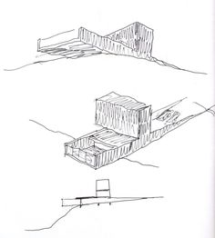Image 3 of 101 from gallery of 100 Architectural Sketches. Photograph by ELEMENTAL Architecture Student, Architecture Drawings, Concept Architecture, Architecture Design, 3d Sketch, Plan Sketch, Sketch A Day, Site Plan Drawing, Site Plans