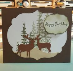 Deer Birthday- click to see what I used to made this card! SU! Wonderland,  Gina Marie dies