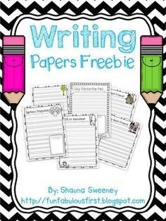 Start off the year with some sample writing papers! Papers include: Friends (a boy and girl version) Pets Apples Thanksgiving Christmas Enjoy!
