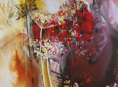Hogweed Hedge watercolour Ann Blockley