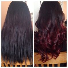 Red wine ombre hair makeover with CHI Ionic 7RV (prelightened previously boxed dyed black hair to level 7) by tianareyes_xo #CHIcolor - Looking for affordable hair extensions to refresh your hair look instantly? http://www.hairextensionsale.com/?source=autopin-pdnew
