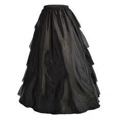 Vintage Renaissance Medieval Adult Black Petticoat Skirt 4 Corset Costume S-2XL  #Unbranded #Skirt