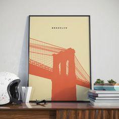 Brooklyn Bridge, Print. Poster - architecture & buildings