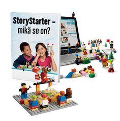 Esitä tarina Legoilla ja kirjoita se.