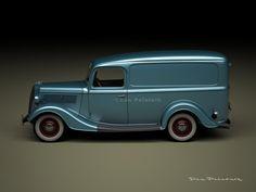 A Garagem Digital de Dan Palatnik   The Digital Garage Project: 1937 Ford Half-Ton Panel Van