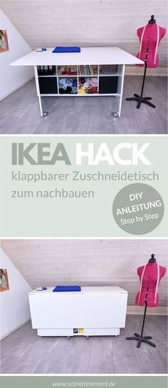 Newest Photo DIY: folding cutting table - cutting element Ideas The IKEA Kallax collection Storage furniture is an essential element of any home. They supply obta Diy Hanging Shelves, Diy Wall Shelves, Floating Shelves Diy, Diy Home Decor Projects, Diy Projects To Try, Sewing Projects, Diy Interior, Ideas Hogar, Cutting Tables