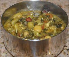 Mharo Rajasthan's Recipes - Rajasthan A State in Western India: Ankurit Beej aur Methi Ki Sabzi - अंकुरित बीज और मेथी की सब्जी (Mixed Sprouts and Fenugreek Leaves Curry)