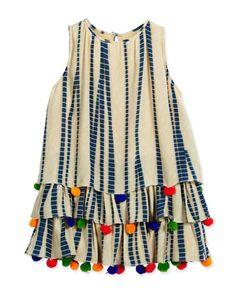 Z1MXX Hemant and Nandita Sleeveless Silk Chiffon Dress, Multicolor, Size 4-6
