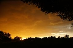 Zachód słońca nad Stolarzowicami
