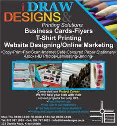 I Draw Designs & Printing Solutions for all you business cards, flyers, website designing, social media marketing, custom t-shirts and more. We help you grow.
