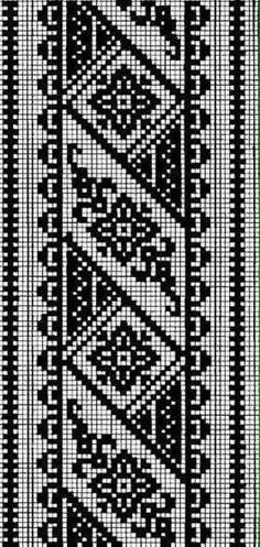 How to Crochet Wave Fan Edging Border Stitch - Crochet Ideas Crochet Borders, Cross Stitch Borders, Crochet Chart, Modern Cross Stitch, Cross Stitch Flowers, Cross Stitch Designs, Cross Stitching, Cross Stitch Patterns, Knitting Charts