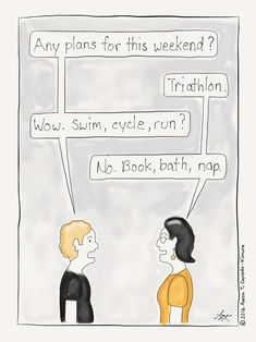 Book triathlon #cartoon