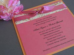 Japanese Specialty Paper Wedding Invitation