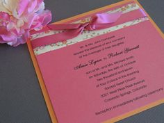 Japanese Specialty Paper Wedding Invitation