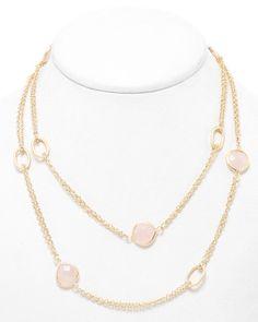 Rivka Friedman 18K Clad Rose Quartz 36in Necklace is on Rue. Shop it now.