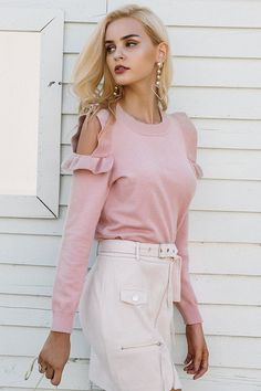 Elegant cold shoulder knitted sweater - Asia to You #koreanfashion #koreanclothing #koreanstyle #casualclothing #aestheticclothing #outfits #casual #aesthetically #clothing #outfit #asiatou #asianclothing #clothing #chicclothing #cute #chic