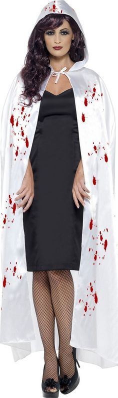Mantello bianco insanguinato adulto Halloween http://www.vegaoo.it/mantello-bianco-insanguinato-adulto-halloween.html