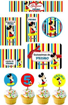 Kit Personalizado do Mickey