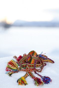 Handwoven belts from the Swedish Sami community