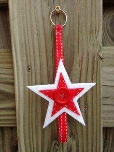 Luiertashanger ster wit/rood
