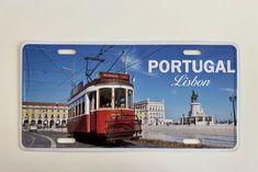 LISBON | PORTUGAL LISBOA - License Plate Cities Tou Vintage Metal Sign Decor #Decor #VintageRetro Tin Signs, Wall Signs, Man Cave Art, Lisbon Portugal, Vintage Metal Signs, Aluminum Signs, Garage Art, Popular Art, Plate