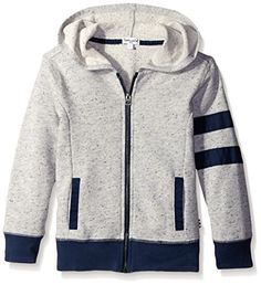 Splendid Little Boys Textured Knit Zip Up Hoodie, Grey Heather - http://our-shopping-store.com/