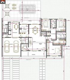 House Plans Mansion, Dream House Plans, Small House Plans, House Floor Design, Modern House Design, Bungalow Floor Plans, House Floor Plans, Modern Architecture Design, Architecture Plan