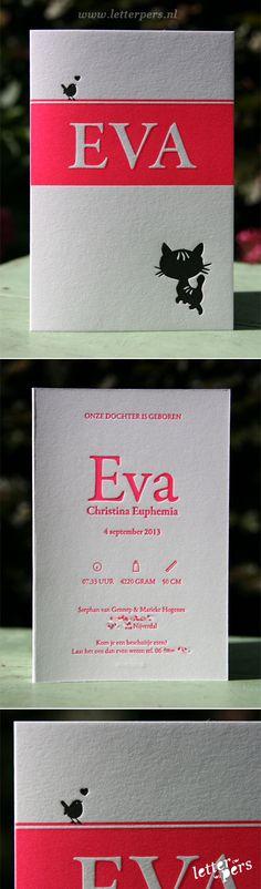 letterpers_letterpress_geboortekaartje_Eva_Fluor_neon_roze_preeg