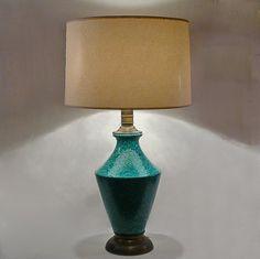 Mid-Century Lava Glaze Lamp in Turquoise